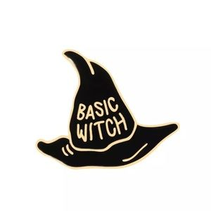 Jewelry - 4/$20 Basic Witch Hat Enamel Brooch Pin